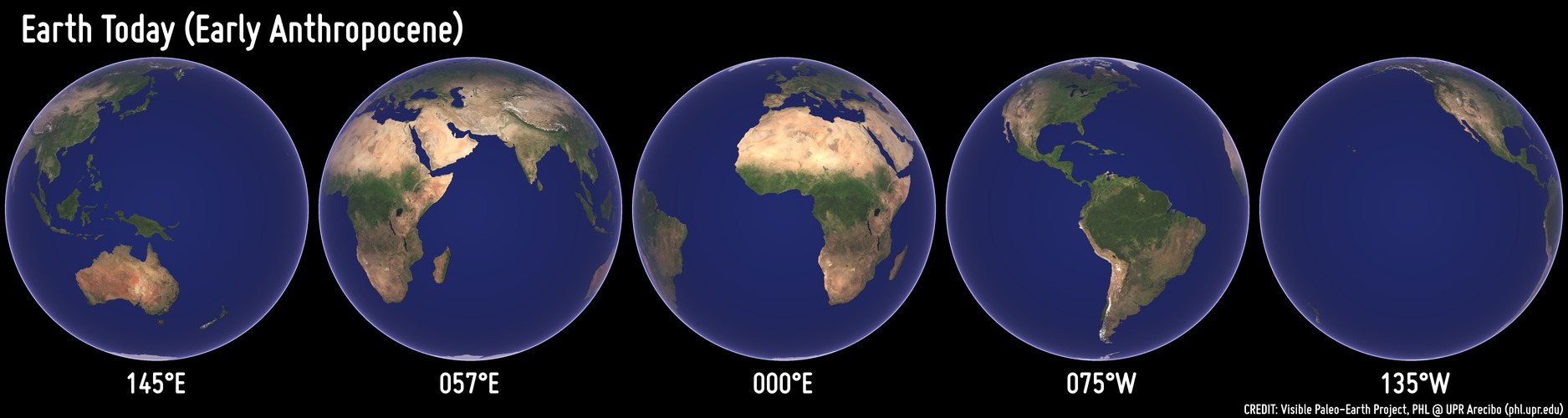 What Would Earth Look Like From A Satellite Million Of Years Ago - Today satellite image of world